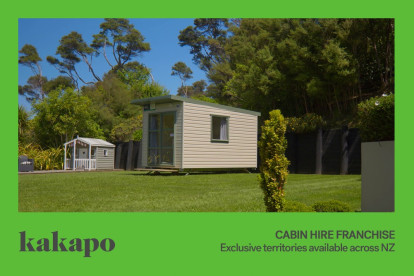Cabin Hire Franchise for Sale Palmerston North, work from home