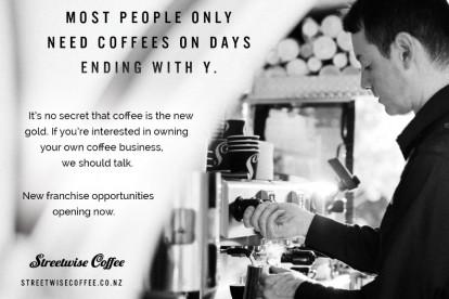 Streetwise Coffee Franchise for Sale Wanganui